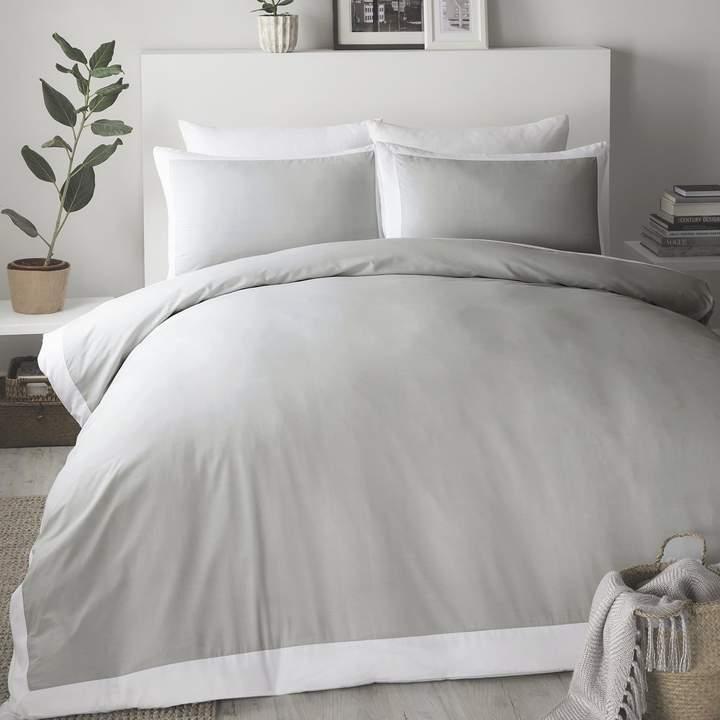 Serene Madison Grey White Plain Dye, Hotel Bedding Sets Super King